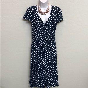 Ralph Lauren Poke a Dot Dress Size 14